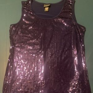 Womens Covington blue sequined tank